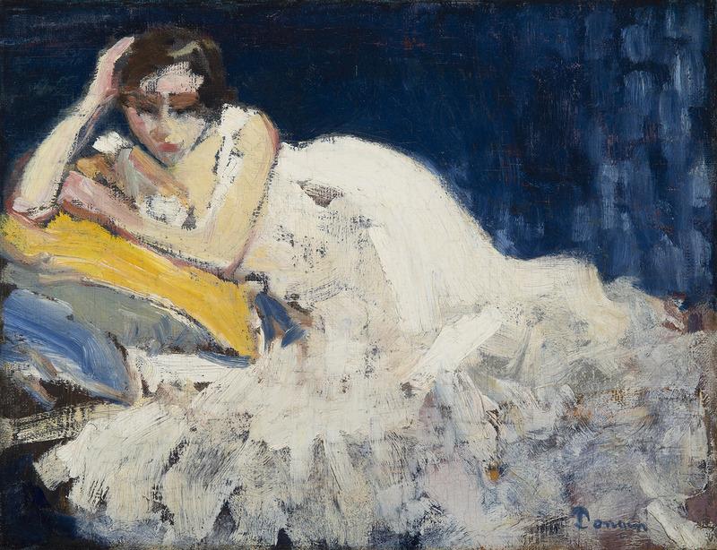 Kees VAN DONGEN - Peinture - Femme couchée