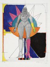 Richard LINDNER - Stampa Multiplo - Starwoman