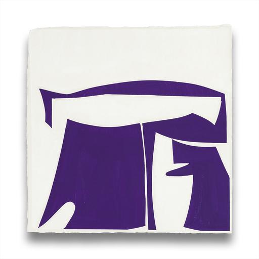 Joanne FREEMAN - Painting - Covers 13-Purple B