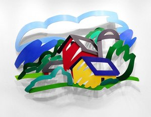 Tom WESSELMANN, House and Barn in the Distance (3-D)