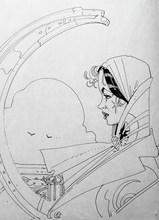 François SCHUITEN - Drawing-Watercolor - Les murailles de Samaris
