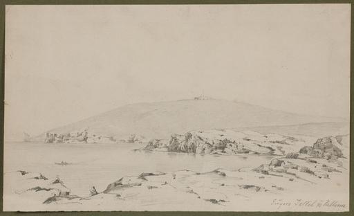"""Eugen JETTEL - Disegno Acquarello - """"Adriatic View"""", 1890, Drawing"""