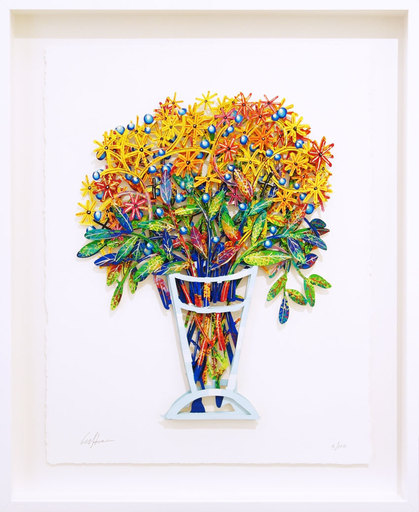 David GERSTEIN - Drawing-Watercolor - Tel Aviv Bouquet