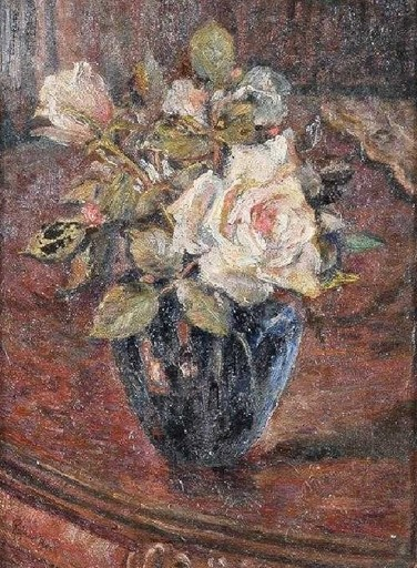 Raphael BECK - Painting - Pink Roses