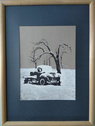 Ohanyan KAMSAR - Dessin-Aquarelle - Snow track