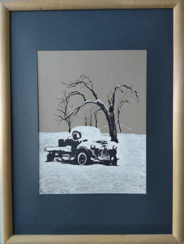 Ohanyan KAMSAR - Disegno Acquarello - Snow track