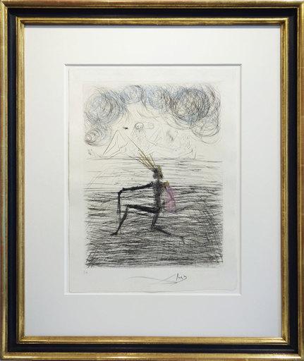 Salvador DALI - Print-Multiple - Faust - Chevalier à genou - Kneeling knight