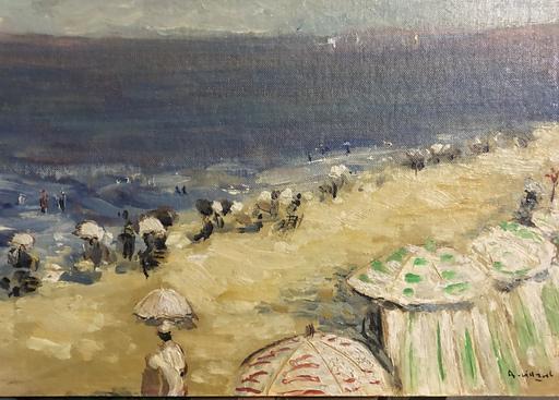 André VILLARET - Gemälde - La plage