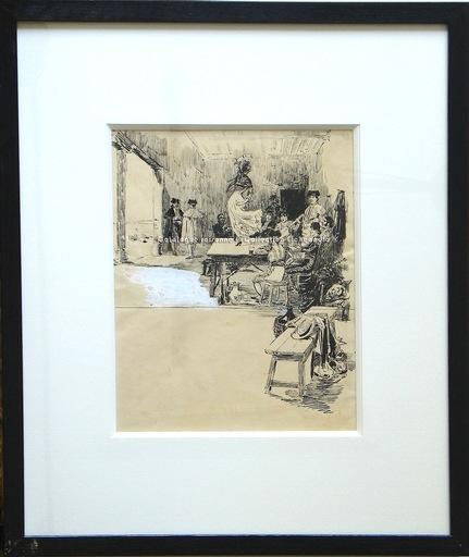 Ulpiano CHECA Y SANZ - Drawing-Watercolor - Cúchares -Tauromaquia - Toreros - CIEMPOZUELOS