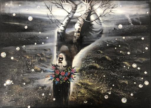 Anna SELINA - Painting - Black Spring
