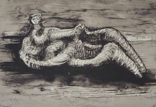 Henry MOORE (1898-1986) - Reclining woman