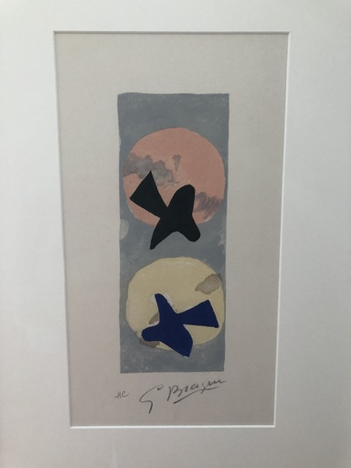 Georges BRAQUE - Estampe-Multiple - Soleil et lune II