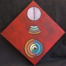 ATCHAMA - Painting - les cercles de la conscience