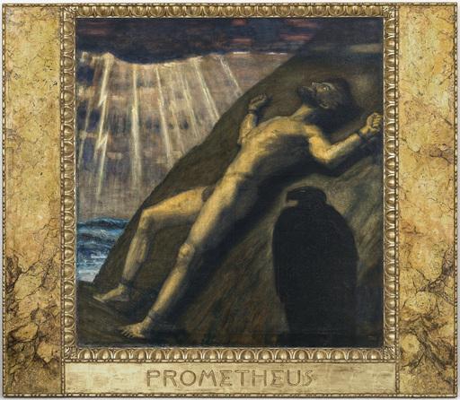 Franz VON STUCK - Pintura - Prometheus