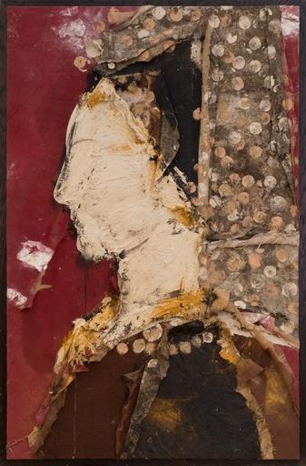 Manolo VALDÉS - Gemälde - Perfil con Mantilla Bordada