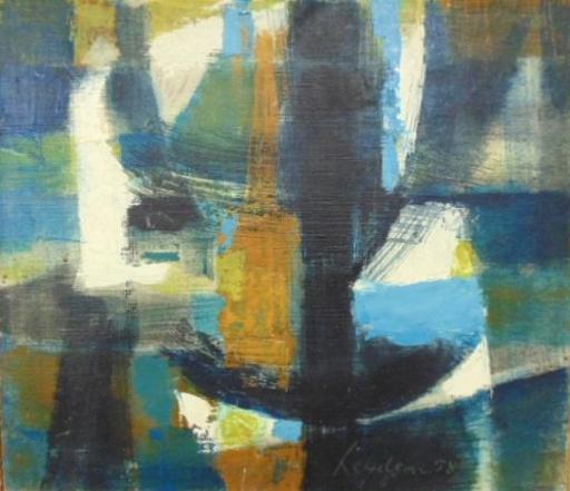 Ernest LEYDEN VAN - Peinture - L'Aube 1958