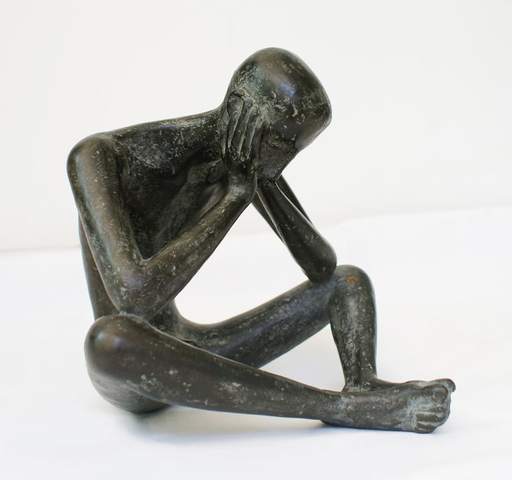 Karl Heinz KRAUSE - Sculpture-Volume - Thoughtful man