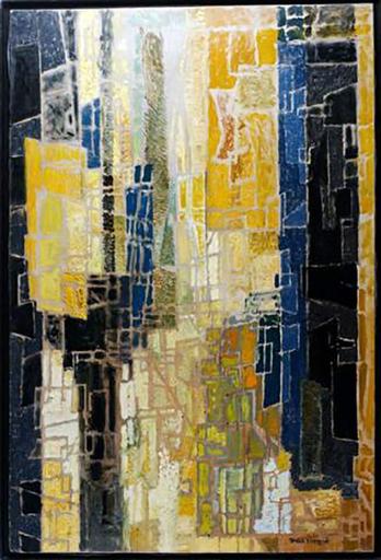 Max PAPART - Peinture - Espace Urbain, 1958