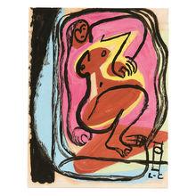 LE CORBUSIER - Dessin-Aquarelle - Femme nue allongée