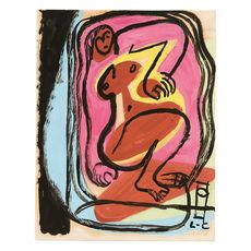 LE CORBUSIER - Dibujo Acuarela - Femme nue allongée