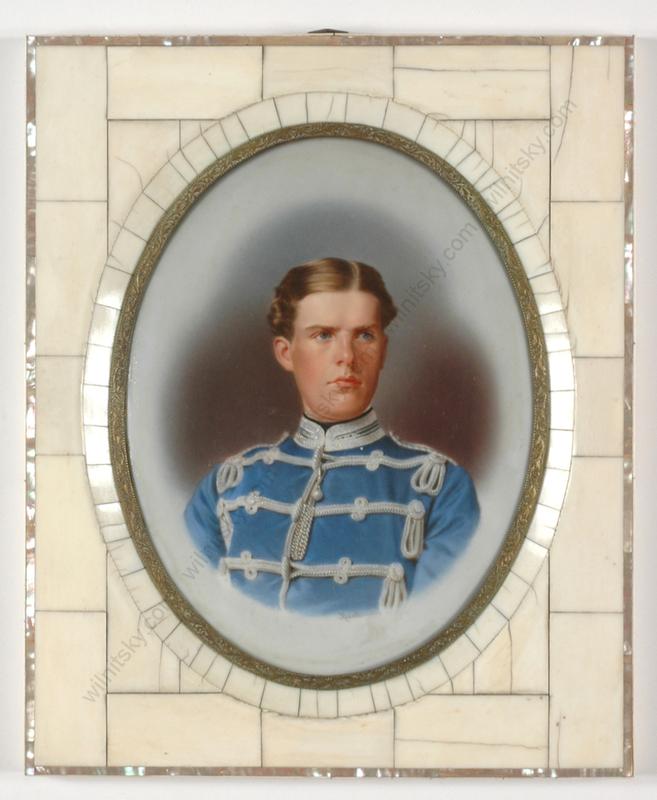"""Moritz KRANTZ - Pintura - """"Saxonian Hussar Officer"""""""