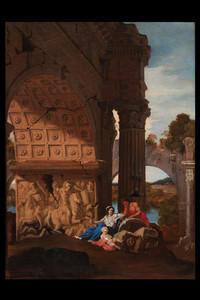 Jean LEMAIRE-POUSSIN - Gemälde - Landscape with triumphal arch