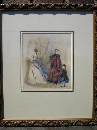 Jules DAVID - Dibujo Acuarela - Pariser Moden