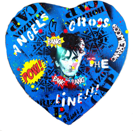Ethan BANG-BANG - Pintura - Angels Cross the Line - blue
