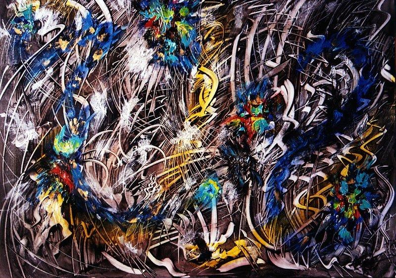 Didier ANGELS - Peinture - Tempête sur la Croissance