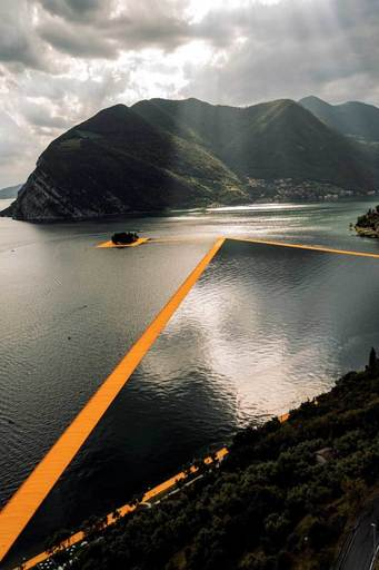 CHRISTO - Photo - Lago d'Iseo - WV22