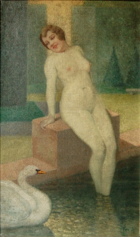 Georges FAR-SI - Pintura - Léda