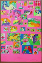 TING Walasse - Print-Multiple - Things I like (Fond Rose)