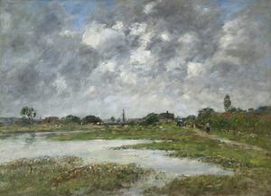 Eugène BOUDIN - Pintura - La Touque à Trouville