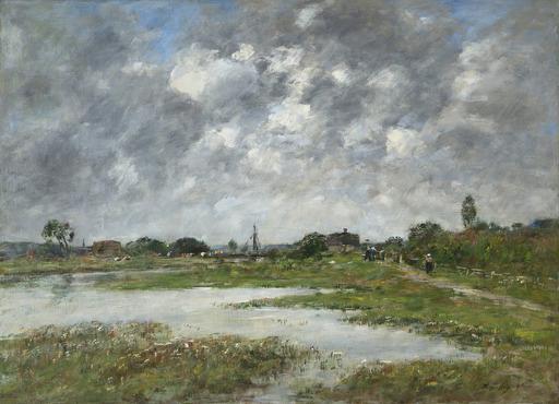 Eugène BOUDIN - Pittura - La Touque à Trouville
