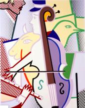 罗伊•利希滕斯坦 - 版画 - Cubist Cello
