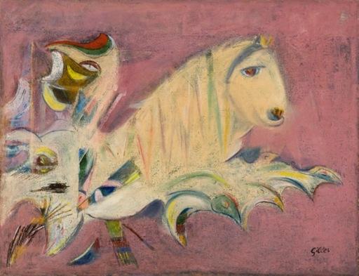 Werner GILLES - Painting - Das Mondtier