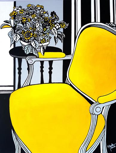 Brigitte THONHAUSER-MERK - Peinture - La chaise jaune