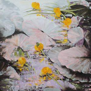 Nadine PILLON - Painting - AUX REFLETS D ARGENT