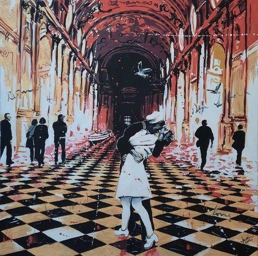 Sante MURO - Painting - Kiss Me!