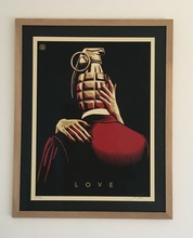 Shepard FAIREY - Print-Multiple - LOVE IS DRUG (SET GOLD AND RED)