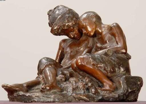 """Vincenzo AURISICCHIO - Skulptur Volumen - """"Sleeping Neopolitan Street Urchins"""""""