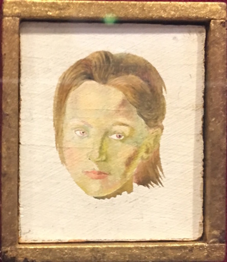 Salvador DALI - Painting - Portrait de Gala jeune fille