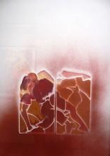 Allen JONES - Dibujo Acuarela - Dancing Gate