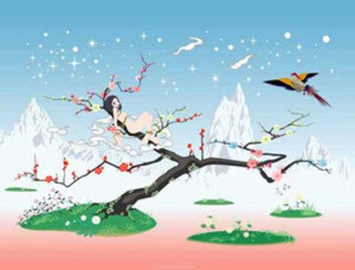 青岛千惠 - 版画 - Japanese Apricot