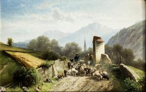 Friedrich MAYER - Gemälde - Transhumance
