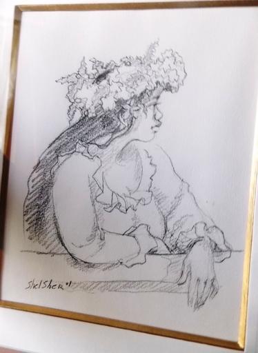 Jean SHELSCHER - Drawing-Watercolor - portrait d une tahitienne