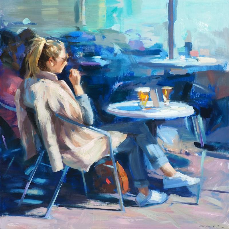 Monica CASTANYS - Pintura - BLUE MORNINGS