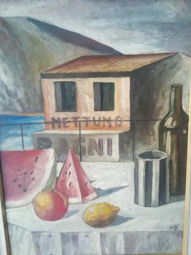 Marcello SCUFFI - Pittura - Bagni nettuno
