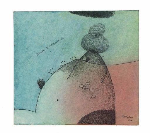 Piero FOGLIATI - Zeichnung Aquarell - Corpi ricaricabili