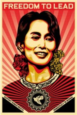 Shepard FAIREY - Estampe-Multiple - Aung San Suu Kyi